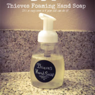 DIY Thieves Foaming Hand Soap – It's so easy a 4 year old can do it!