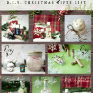 12 Days of D.I.Y. Christmas Gift LIST with Essential Oils